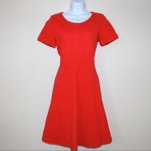 J. Crew Ponte Swing Coral A-Line Dress
